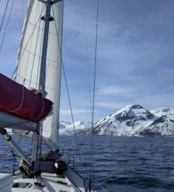 zeilen koudetraining sportief Noorwegen actief wimhof ijsman Tromso SeaWind Adventures zeilreis zeilvakantie sailing norway