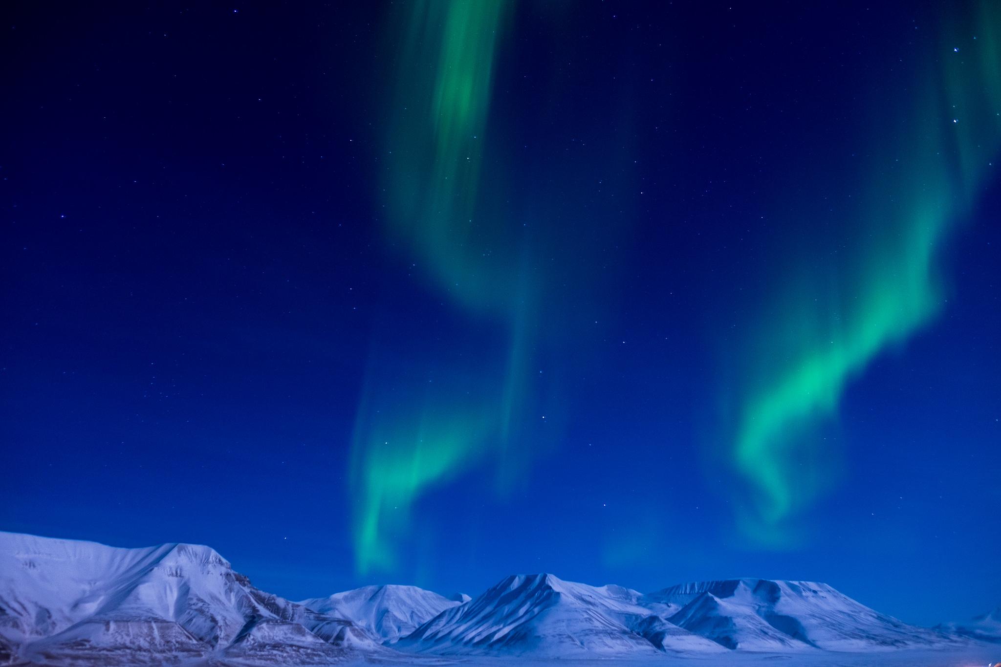 Noorderlicht Spitsbergen aurora borealis Svalbard zeilreis zeilen Noorwegen SeaWind Adventures